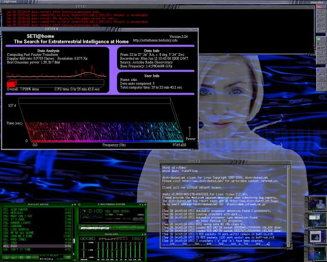 vvhome Enlightenment Window Manager screenshot