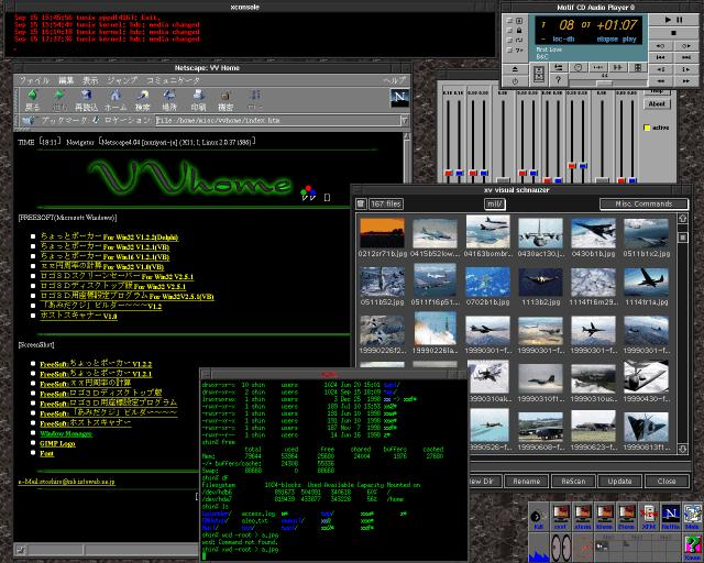 vvhome fvwm Window Manager screenshot